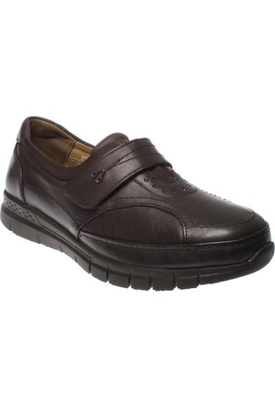 Forelli 29445 Tek Cırt Comfort Kahverengi Kadın Ayakkabı