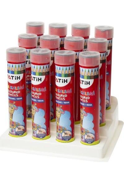 Fatih 12 Renk Uzun Kuruboya Kalemi 12 Li