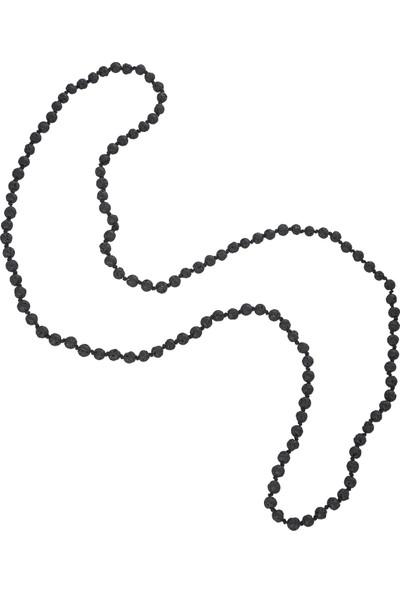 Chavin 5 Mm. 70 Cm. Siyah Lav Taşı Erkek Kolye Ea47