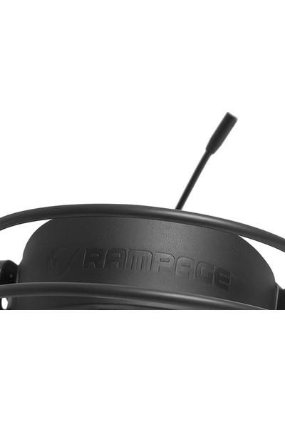 Rampage RM-23 Agita Siyah USB 7.1 RGB Ledli Titreşimli Surround Oyuncu Mikrofonlu Kulaklık