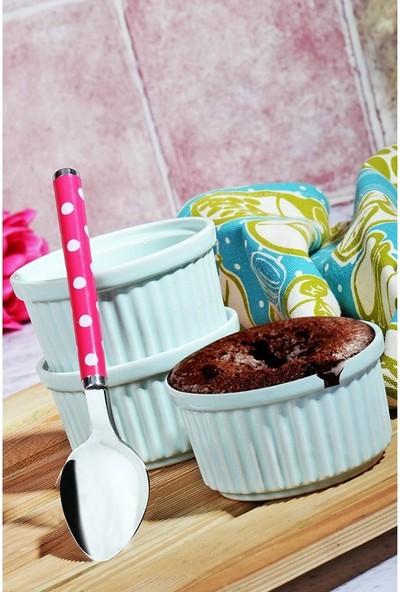 Kitchen World Seramik Rölyefli 3'lü Sufle Kabı