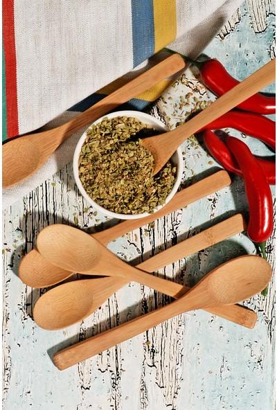 Kitchen World Bambu 6'lı Baharat Kaşık Seti