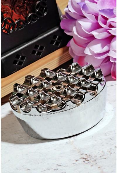 Kitchen World Paslanmaz Metal Yuvarlak Küllük