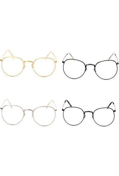 GOB2C Metal Çerçeveli Kadın Gözlüğü Altın