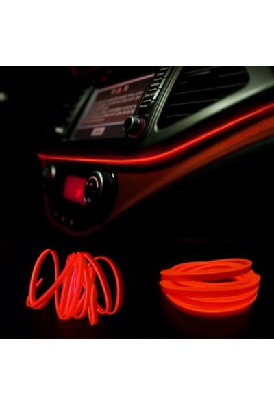 Carub Araç İçi Neon Led - Şerit Led Neon Kırmızı 2Mt