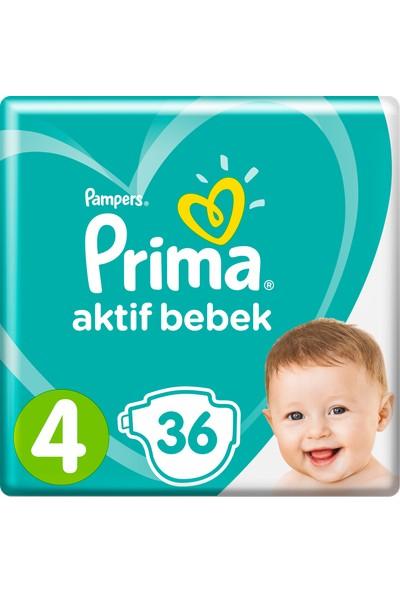 Prima Bebek Bezi Aktif Bebek 4 Beden 36 Adet Maxi İkiz Plus Paket