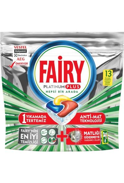 Fairy Platinum Plus 13 Yıkama Bulaşık Makinesi Deterjanı Kapsülü