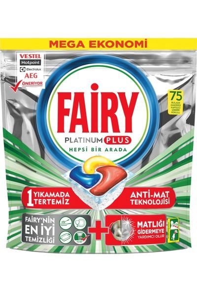 Fairy Platinum Plus 75 Yıkama Bulaşık Makinesi Deterjanı Kapsülü