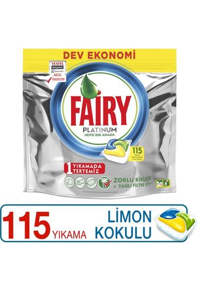 Fairy Platinum 115 Yıkama Bulaşık Makinesi Deterjanı Kapsülü Limon Kokulu