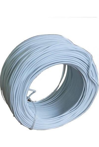 Electroon 0,22MM Çok Damarlı Montaj Kablosu 100MT Beyaz