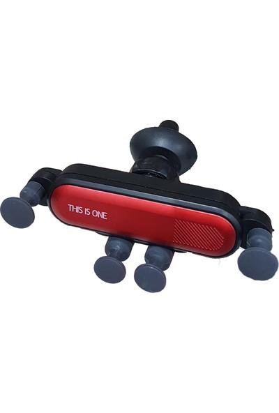 Ceplike Ahtapot Araç İçi Telefon Tutucu - Kırmızı