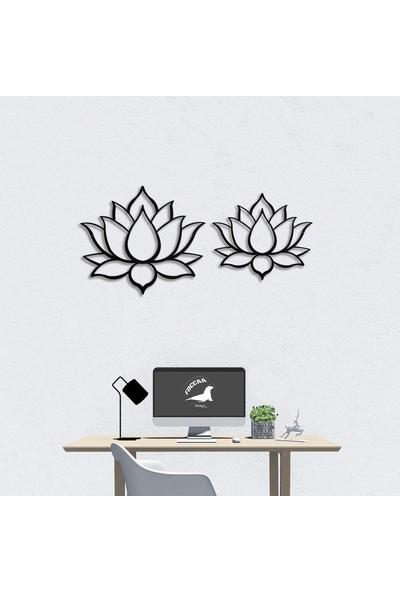 Foccaa Dizayn Lotus Çiçeği Metal Tablo