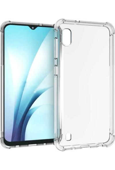 Melikzade Samsung Galaxy A10 Anti Shock Premium Şeffaf Silikon Kılıf Airbag Arka Kapak