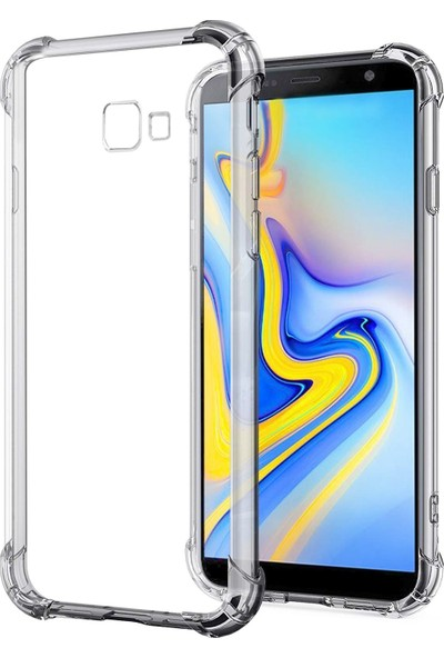 Melikzade Samsung Galaxy J4 Plus Anti Shock Premium Şeffaf Silikon Kılıf Airbag Arka Kapak