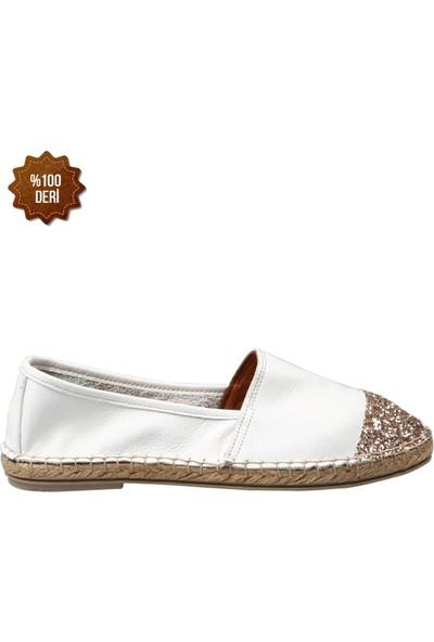 Hammer Jack Altın ComBeyaz Kadın Ayakkabı 195 1601-Z
