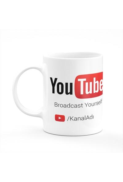 Cupgel Youtube Kişiye Özel Youtuber Isimli Kupa Bardak
