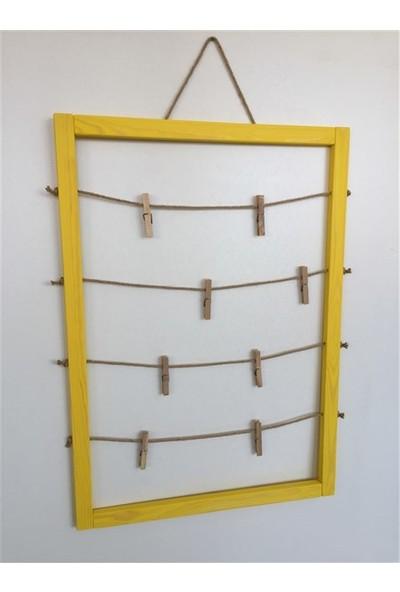 Şahin Mobilya Ahşap Çerçeve Ipli Mandallı 70 x 50 Sarı