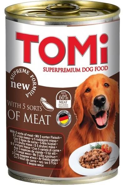 Tomi 5 Çesit Kırmızı Etli Köpek Konservesi 400 gr