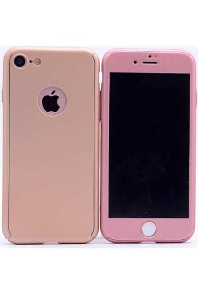 Antdesign Apple iPhone 7 / iPhone 8 360 Derece Tam Koruma Sert Silikon Kılıf Lacivert