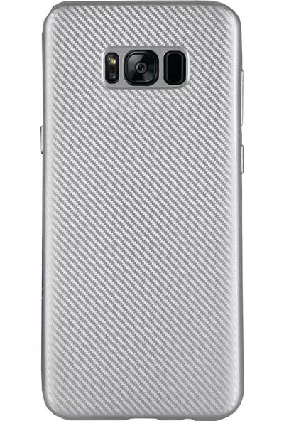 Antdesign Samsung Galaxy S8 Karbon Carbon Soft Kılıf Gri