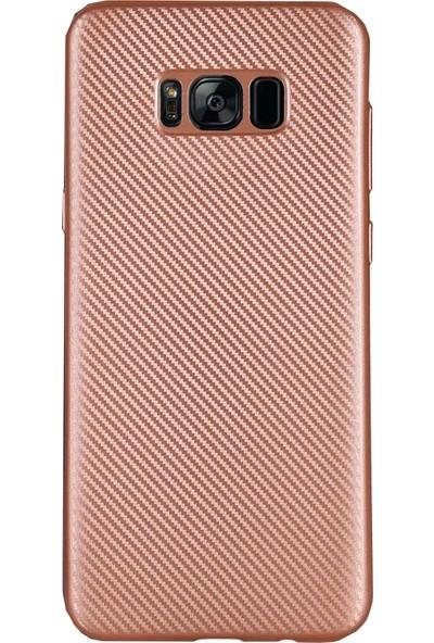 Antdesign Samsung Galaxy S8 Plus Karbon Carbon Soft Kılıf Rose Gold