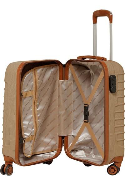 Travel Soft U Kmr 6122-K Şampanya Unisex Küçük Valiz