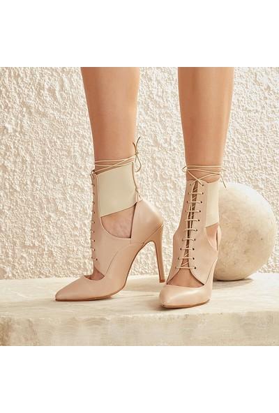 Butigo Vıyan12Y Cilt Ten Kadın Sandalet