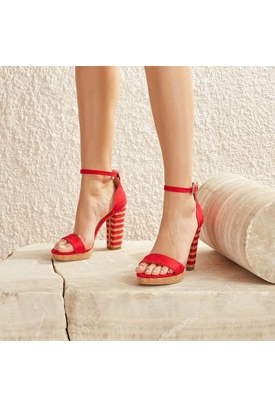 Butigo Molly33Z Kırmızı Kadın Sandalet