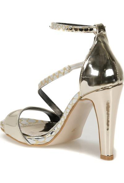 Butigo Neko05Y Rugan Altın Kadın Sandalet