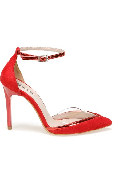 Butigo 19Sf-191133Z Süet Kırmızı Kadın Sandalet