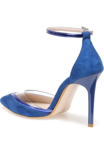 Butigo 19Sf-191167Z Süet Mavi Kadın Sandalet
