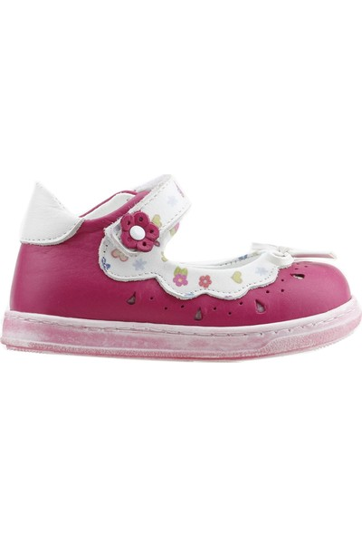Lepi ST00341 %100 Deri Ortopedik Cırtlı Kız Çocuk Ayakkabı Fuşya