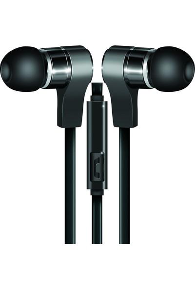 Coby CVE-130-BLK Wavs Mikrofonlu Metal Kulak Içi Aux Kulaklık - Siyah