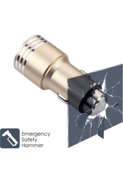 Modacar Metal 2 Usb Güvenlikli Araç Çakmak Şarj Soketi 427663