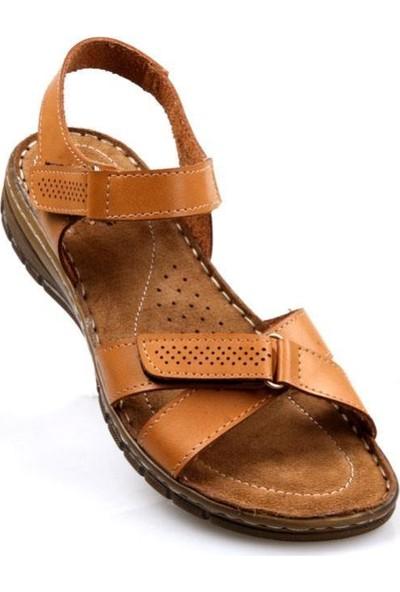 Polaris Ortapedik Kadın Günlük Camel Sandalet