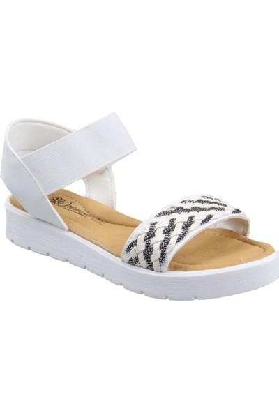 Sema Kız Çocuk(31-36) Ortapedik Beyaz Sandalet