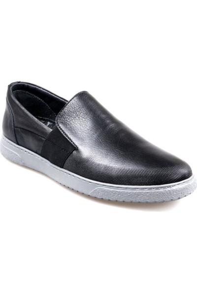Tardelli 1929 Erkek Bağcıksız Siyah Günlük Ayakkabı