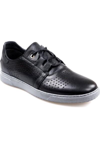 Tardelli 1902 Erkek Bağcıklı Siyah Günlük Ayakkabı