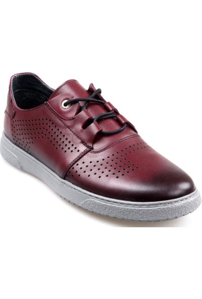 Tardelli 1902 Erkek Bağcıklı Bordo Günlük Ayakkabı