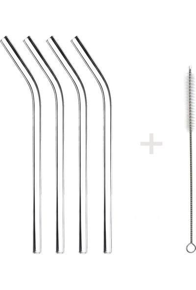 1200 Derece Dayanıklı Cam Pipet 20 cm 4'lü Set – Eğik