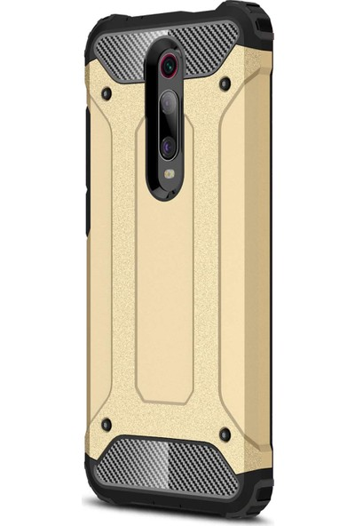 Microsonic Xiaomi Redmi K20 Kılıf Rugged Armor Gold
