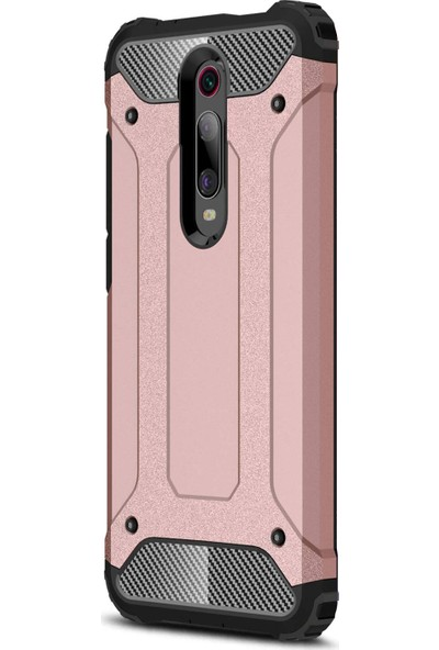 Microsonic Xiaomi Redmi K20 Kılıf Rugged Armor Rose Gold