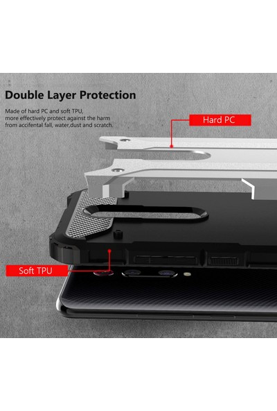 Microsonic Xiaomi Redmi K20 Kılıf Rugged Armor Rose Gold