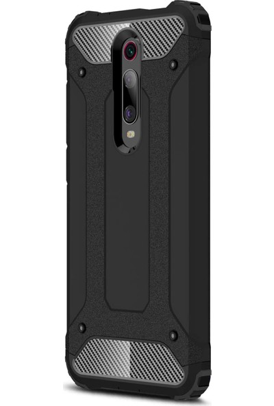 Microsonic Xiaomi Redmi K20 Kılıf Rugged Armor Siyah