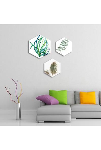 Dekolia By Foresta Concept 3 Parçalı Altıgen MDF Tablo DKV156