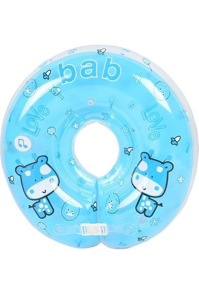 GOB2C Şişme Boyun Koruma Bebek Havuz Yastığı Mavi