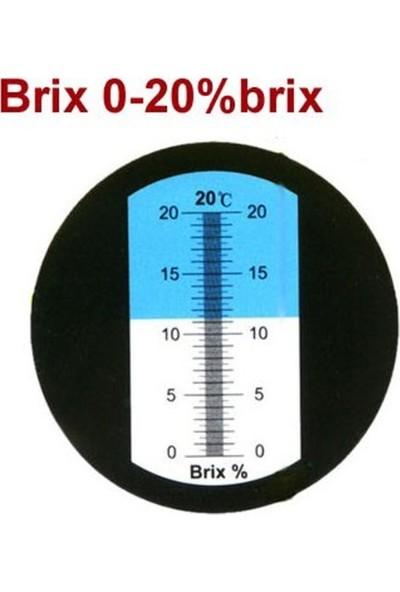 Atc 0-20 Şeker Yoğunluk Ölçer Brix Refraktometre