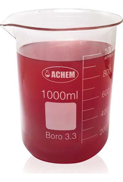 Achem 1000Ml Cam Beher Kısa Form