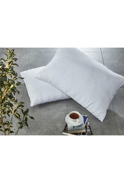 Komfort Home Çizgili Pamuk Saten Yastık 800Gr (1 Adet)