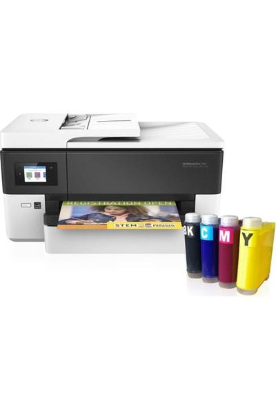 Hp Officejet Pro 7720 Fotokopi + Faks + Tarayıcı + Wi-Fi + Airprint + A3 Yazıcı Y0S18A ve Bitmeyen Kartuş Sistemi